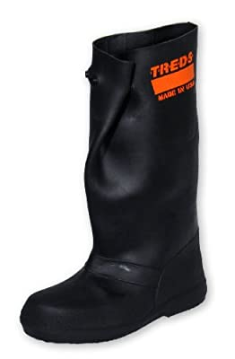 "TREDS Over-The-Shoe 17"" Rubber Slush Boots, Black"