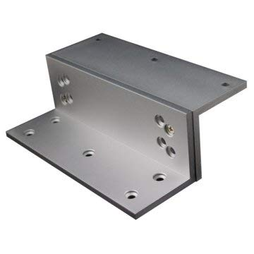 Bea Satin Aluminum Clear Anodized L and Z Maglock Bracket