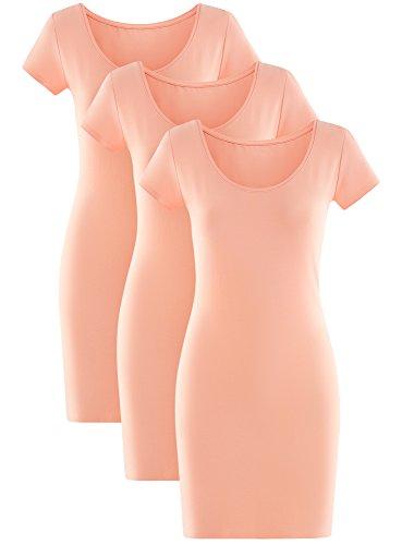 oodji Rose Robe 5400n Ultra de Maille Femme 3 Lot en rqrB4