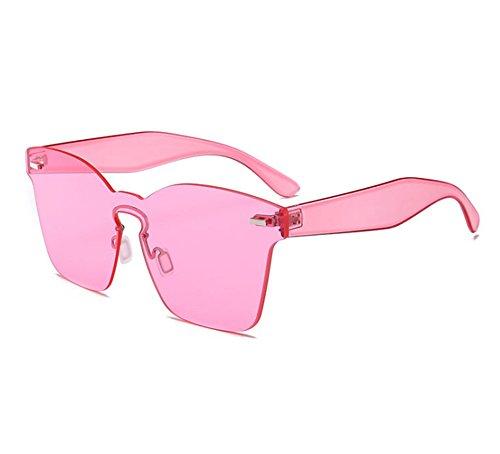 cuadradas Gafas vidrios Rosa no de de la integrados polarizadas clásica sol moda UV400 qErOzE