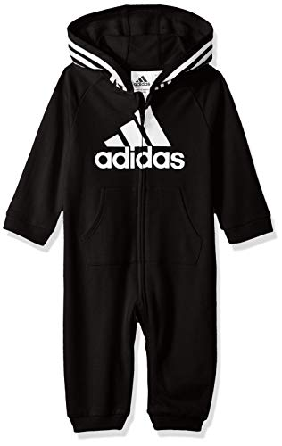 adidas Baby Girls Coverall, Black ark, 12 Months