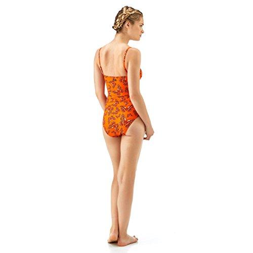 Bañador de una sola pieza estilo bustier con estampado Butterflies - Mujer Papaye