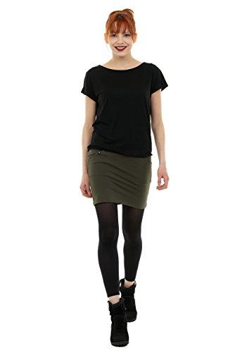 3Elfen Verano Vestido Pixie Mujer Mini Vestidos Brazo Corto producido en Berlín Negro Oliva
