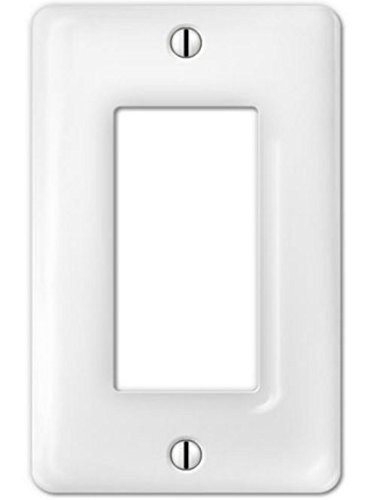 (Porcelain Decorative Switch plate, Wall plate, Cover, Rectangular White, Rocker - 3002R)