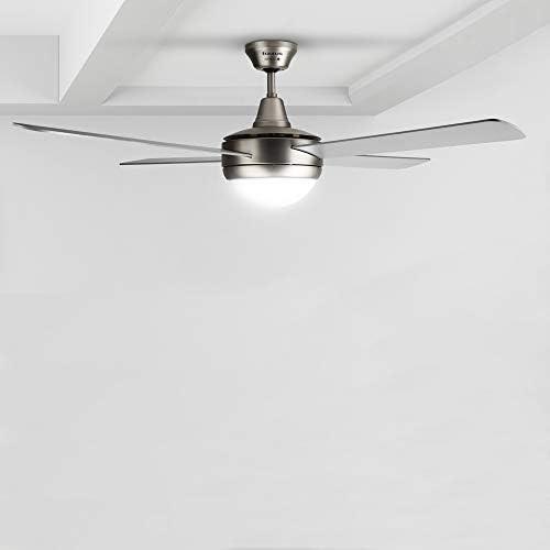 Taurus Fresko 4B Ventilador de techo con luz y mando a distancia, 150 W, aluminum: Taurus: Amazon.es: Hogar
