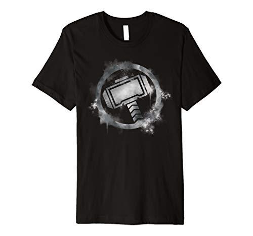 a8e8061d Marvel Avengers Endgame Thor Spray Paint Logo Premium T-Shirt