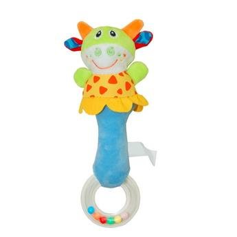 Cute Plush Animal Hand Bell Rattler Toys for Newborn Infants  Enhances Development of Senses, Trains Baby Grip Ability  Baby Safe, Made from and Safe Materials  Unisex