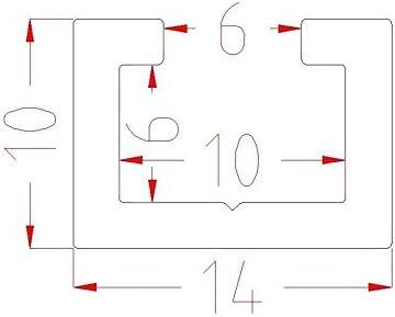 Ruban de Mesure Lot de 4//à 1/m aluminium Profil de profil/é en aluminium Poign/ée /étoile /Écrous M6/ vis//C C