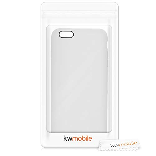 kwmobile TPU Silicone Case Compatible with Apple iPhone 6 Plus / 6S Plus - Soft Flexible Rubber Protective Cover - White
