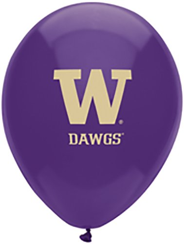 (Pioneer Balloon Company 10 Count University of Washington Latex Balloon, 11