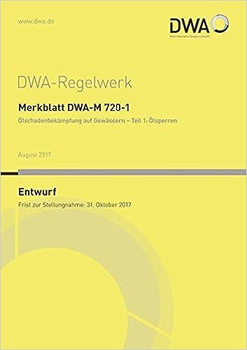 Arbeitsblatt DWA-A 793-1 Technische Regel wassergefährdender Stoffe ...