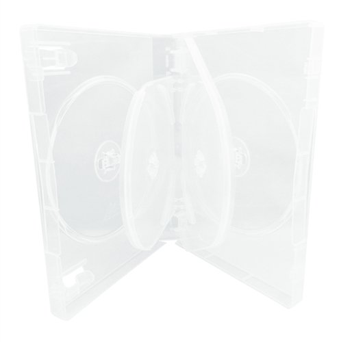 Mediaxpo Brand 120 Clear 6 Disc DVD Cases /w Patented M-Lock Hub