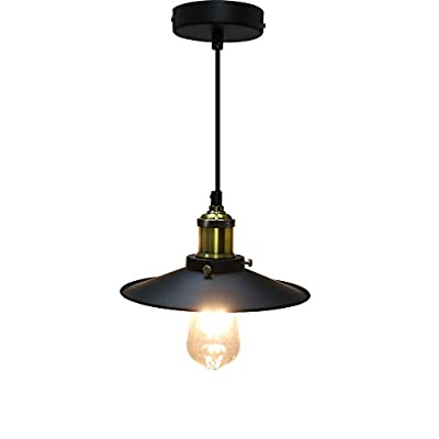 Minger Pendant Light Industrial Edison Vintage Style 1-light Glass Bowl Pendant Hanging Light for Kitchen Island, Dining Room