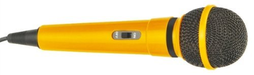 Mr Entertainer Plastic Karaoke Microphone Yellow by Mr Entertainer