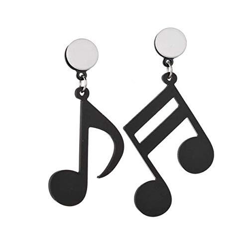 Beaums Musical Note Women Girls Asymmetric Acrylic Earrings Metal Plating Beauty Earrings Fashion Jewerly
