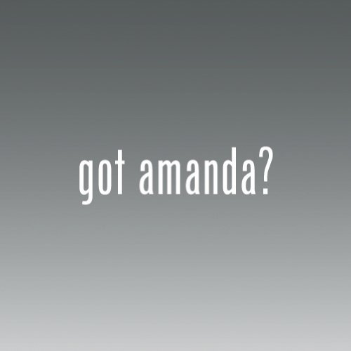 (Got Amanda Logo sticker vinyl decals- Die Cut Decal Bumper Sticker For Windows, Cars, Trucks, Laptops, Etc. )