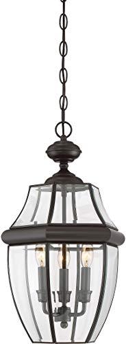 Quoizel NY1179Z Newbury Outdoor Pendant Lantern Ceiling Lighting, 3-Light, 180 Watts, Medici Bronze (21