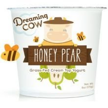 Dreaming Cow Honey Pear Yogurt, 6 Ounce -- 12 per case. (Wheat Grass Juice Frozen compare prices)