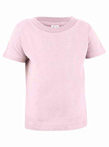3401 T-shirt (Rabbit Skins 100% Cotton Blank Infant Football Jersey Tee [Size 24 Months ] Ballerina Pink Short Sleeve T-Shirt)