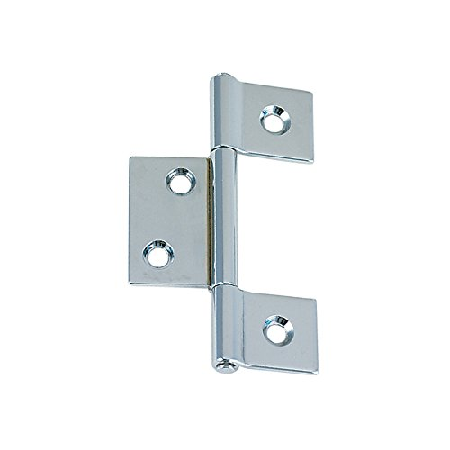 Perko 0957DP0CHR Non-Mortised Hinge, Chrome-Plated Brass (Pin Plated Chrome Brass)