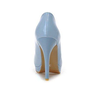 donna tacco absaetzeges Dunkel vestito pelle Blau da Donna sene Heels in Scarpe Pumps cirior Heels zehe Stöckel High chlos High 8qAwXx4
