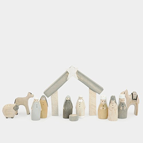 Natural Little Boxed Nativity Set East of India