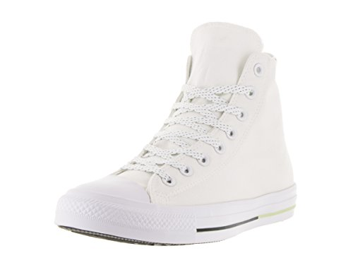 Converse Unisex Chuck Taylor All Star Hi White/Volt/Black Casual Shoe 11.5 Men US