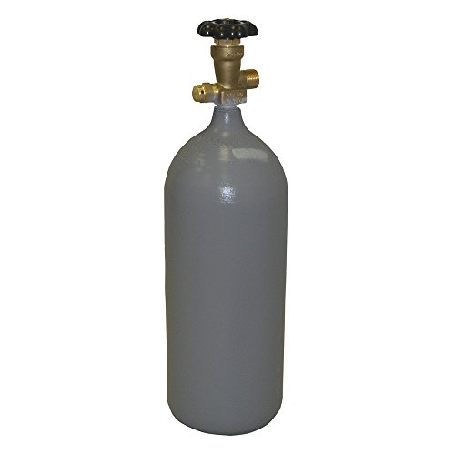 5 lb Steel CO2 Cylinder, Recertified, New CGA320 Valve + Fresh Hydro Test