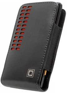 Bloutina Cellet Bergamo Leather Case Red Black For Motorola i412 (Boost i412)