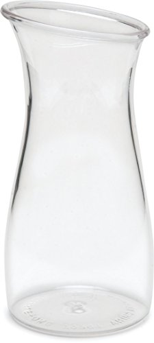 Carlisle 7090107 Cascata Carafe Juice Jar Beverage Decanter Only, Plastic.50 L, Clear