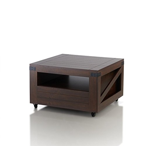 (ioHOMES Clyde Industrial Coffee Table, Vintage Walnut)