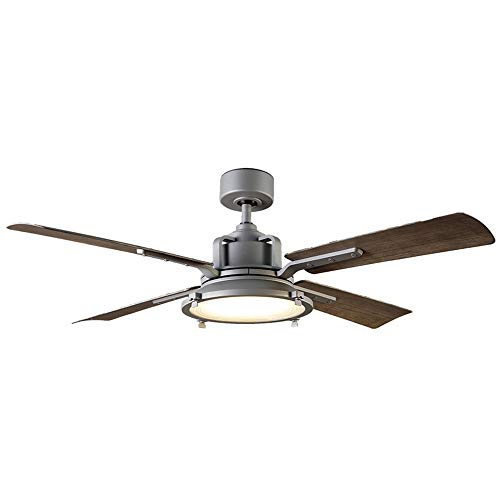 Modern Forms FR-W1818-56L-GH WG Restoration 56 Ceiling Fan from Nautilus Collection in Bronze Dark Finish, Graphite