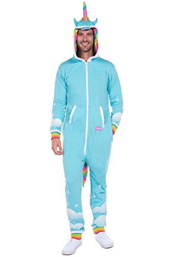 Men's Unicorn Onesie - Unicorn Jumpsuit Halloween Costume for Men: Large