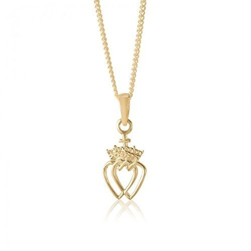 10 Karat Yellow Gold Celtic Crowned Heart (Celtic Crowned Heart Pendant)