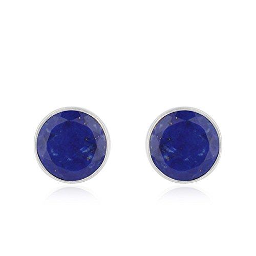 Lapis lazuli-Earrings Lapis lazuli-gemstone Blue Silver Plug-Earrings 925 Sterling Silver-Lapis studs-Gold studs-Women\u2019s earrings lapis