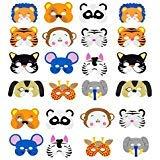 Animal Masks Kids Cartoon Masks - INTVN Foam Face Masks Halloween masks Dress-Up Party Favor 24 Pieces ()