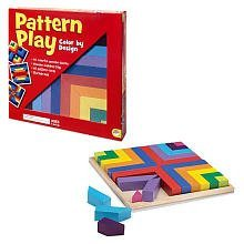 MindWare Pattern Play 40 colored block replication (Square Pattern Puzzle)