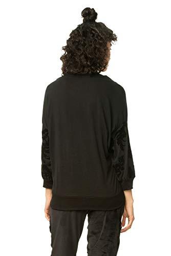 Femme T Noir Jersey 2000 Negro Sweat shirt M Desigual Ginko Moyen fTqZww1