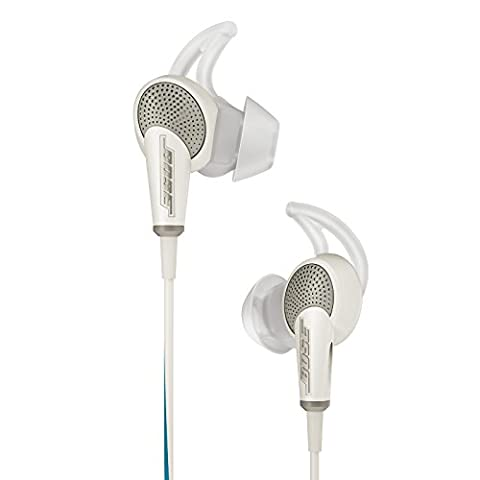 Bose QuietComfort 20 Acoustic Noise Cancelling Headphones, Apple Devices, White (In Ear Noise Cancelling Bose)