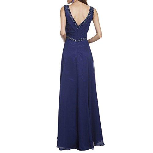Charmant Pailletten Blau Damen Festlichkleider Abendkleider Brautmutterkleider Promkleider Elegant Dunkel Lang Hrvw1qxnHC