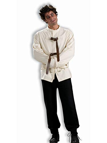 Men's Straight Jacket Costume, White, One Size