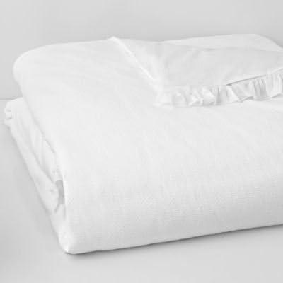 1872 Bloomingdale/'s Bedding Signature Pique 100/% Cotton King Sham White