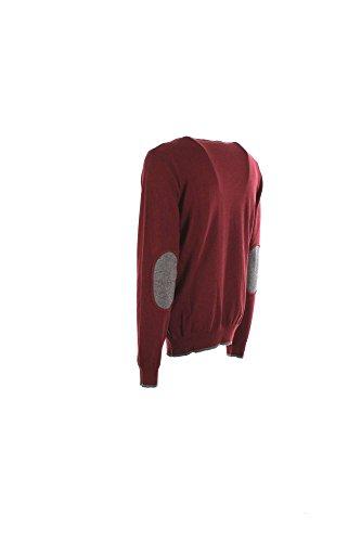 Maglia Uomo Armani Jeans Xl Bordeaux 8n6m95 6m13z Autunno Inverno 2016/17