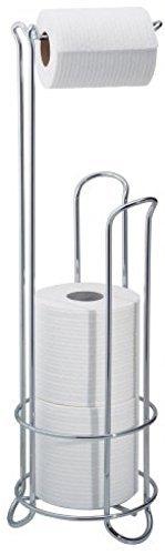 AH&R International Chrome Wire Frame Bathroom Toilet Paper Roll Holder Standing 3 Roll Storage
