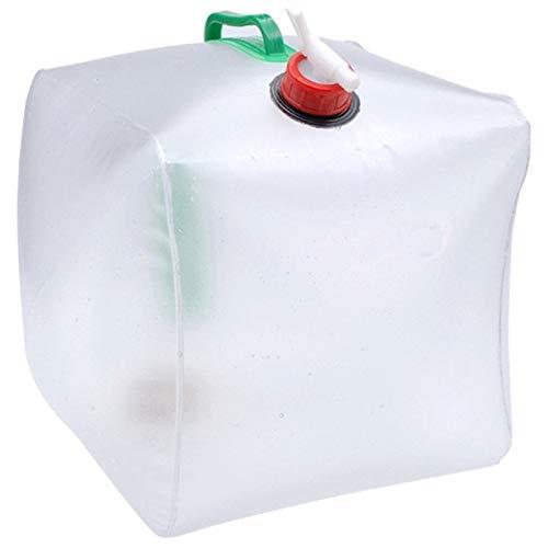 Blanco Zengbuks Bolsa de Agua Potable Plegable de 20L Deportes al Aire Libre Camping Senderismo Viajes Contenedor de Almacenamiento de Agua Soporte para Bebidas