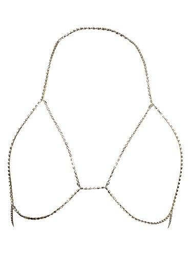 Glamaker Rhinestone Necklace Jewelry Clubwear