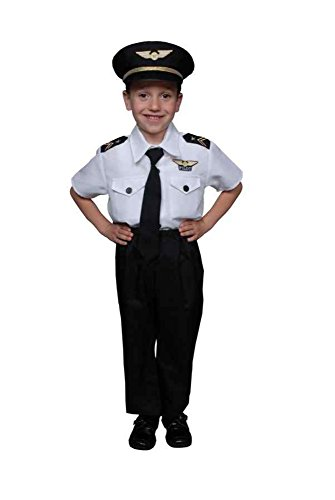 UHC Pilot Boy Uniform Toddler Kids Outfit Fancy Dress Halloween Costume, 3T-4T (Mascot Uniforms)