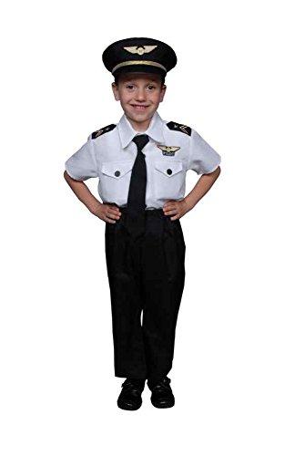 UHC Pilot Boy Uniform Toddler Kids Outfit Fancy Dress Halloween Costume, 3T-4T (Clown Outfit For Kids)