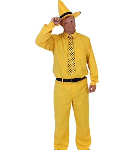 Man Yellow Hat Halloween Costume (Curious George Man in The Yellow Hat Deluxe Costume Set (Adult)