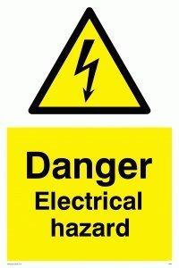 viking signs we67 a6p v danger electrical hazard sign vinyl 150 mm